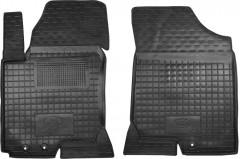 Коврики в салон передние для Kia Ceed '06-12 резиновые, черные (AVTO-Gumm)