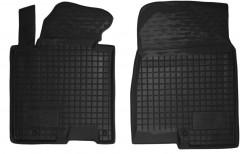 Коврики в салон передние для Kia Ceed '12- резиновые, черные (AVTO-Gumm)