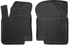 Коврики в салон передние для Kia Cerato Koup '09- резиновые, черные (AVTO-Gumm)