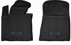 Коврики в салон передние для Kia Sorento '13- резиновые, черные (AVTO-Gumm)