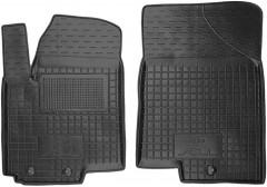 Коврики в салон передние для Kia Soul '09-13 резиновые, черные (AVTO-Gumm)