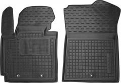 Коврики в салон передние для Kia Soul '14- резиновые, черные (AVTO-Gumm)