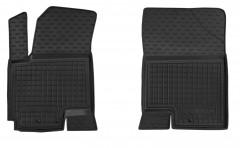 Коврики в салон передние для Kia Venga '10- резиновые, черные (AVTO-Gumm)