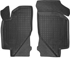 Коврики в салон передние для Lada (Ваз) Калина 1117-19 '04-13 резиновые, черные (AVTO-Gumm)