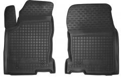 Коврики в салон передние для Lexus NX '14- резиновые, черные (AVTO-Gumm)