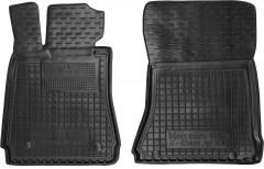 Коврики в салон передние для Mercedes S-Class W221 '06-13 резиновые, черные (AVTO-Gumm)