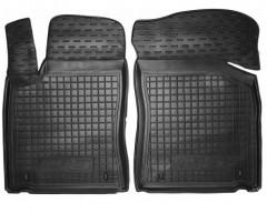 Коврики в салон передние для MG 5 HB '13- резиновые, черные (AVTO-Gumm)