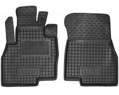 Коврики в салон передние для Mitsubishi Grandis '03-11 резиновые, черные (AVTO-Gumm)