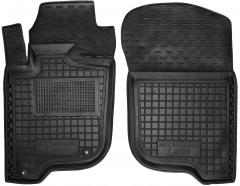 Коврики в салон передние для Mitsubishi L200 / Triton '05-13, короткая база, резиновые, черные (AVTO-Gumm)