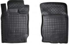 Коврики в салон передние для Mitsubishi L200 / Triton '13-15, длинная база, резиновые, черные (AVTO-Gumm)