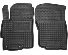 Коврики в салон передние для Mitsubishi Lancer X (10), Evo X, Sb '07- резиновые, черные (AVTO-Gumm)