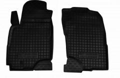 Коврики в салон передние для Mitsubishi Outlander '03-07 резиновые, черные (AVTO-Gumm)