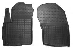 Коврики в салон передние для Mitsubishi Outlander XL '07-12 резиновые, черные (AVTO-Gumm)