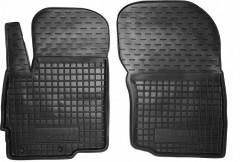 Коврики в салон передние для Mitsubishi Outlander '12- резиновые, черные (AVTO-Gumm)