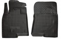 Коврики в салон передние для Mitsubishi Pajero Wagon 4 '07- резиновые, черные (AVTO-Gumm)