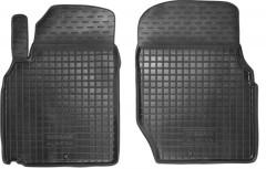 Коврики в салон передние для Nissan Almera Classic 06-13 резиновые, черные (AVTO-Gumm)