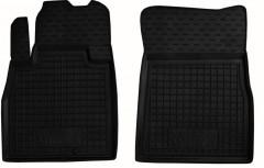 Коврики в салон передние для Nissan Micra '10-17 резиновые, черные (AVTO-Gumm)