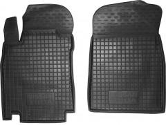 Коврики в салон передние для Nissan Tiida '05- резиновые, черные (AVTO-Gumm)
