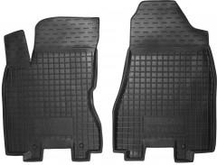 Коврики в салон передние для Nissan X-Trail '08-15 резиновые, черные (AVTO-Gumm)