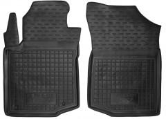 Коврики в салон передние для Peugeot 107 '05-14 резиновые, черные (AVTO-Gumm)