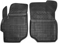 Коврики в салон передние для Peugeot 301 '12- резиновые, черные (AVTO-Gumm)