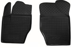 Коврики в салон передние для Peugeot 408 '12- резиновые, черные (AVTO-Gumm)