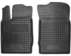 Коврики в салон передние для Renault Symbol '01-12 резиновые, черные (AVTO-Gumm)