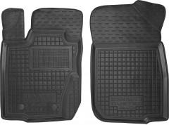 Коврики в салон передние для Renault Duster '10-14, 4WD резиновые, черные (AVTO-Gumm)