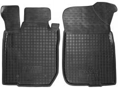 Коврики в салон передние для Renault Duster '10-14, 2WD резиновые, черные (AVTO-Gumm)