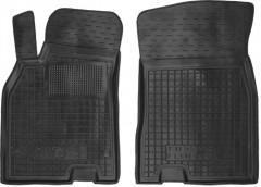 Коврики в салон передние для Renault Fluence '09- резиновые, черные (AVTO-Gumm)