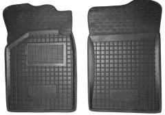 Коврики в салон передние для Renault Kangoo '97-09 резиновые, черные (AVTO-Gumm)