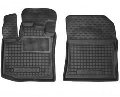 Коврики в салон передние для Renault Lodgy '12- резиновые, черные (AVTO-Gumm)