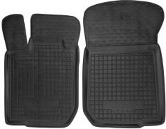 Коврики в салон передние для Renault Logan '04-12 резиновые, черные (AVTO-Gumm)