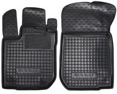 Коврики в салон передние для Renault Sandero '13- резиновые, черные (AVTO-Gumm)