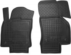 Коврики в салон передние для Seat Leon '12- резиновые, черные (AVTO-Gumm)