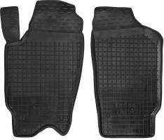Коврики в салон передние для Skoda Fabia '99-07 резиновые, черные (AVTO-Gumm)
