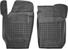 Коврики в салон передние для Skoda Fabia II '07-14 резиновые, черные (AVTO-Gumm)