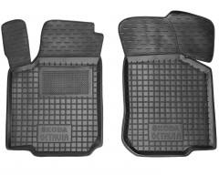 Коврики в салон передние для Skoda Octavia '97-09 резиновые, черные (AVTO-Gumm)