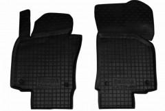 Коврики в салон передние для Skoda Octavia A5 '05-13 резиновые, черные (AVTO-Gumm)