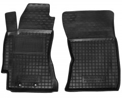 Коврики в салон передние для Subaru Forester '08-12 резиновые, черные (AVTO-Gumm)