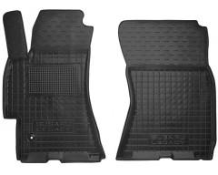 Коврики в салон передние для Subaru Legacy '04-10 резиновые, черные (AVTO-Gumm)
