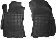 Коврики в салон передние для Subaru Legacy '10-14 резиновые, черные (AVTO-Gumm)