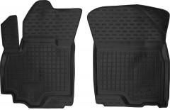 Коврики в салон передние для Suzuki SX4 '06-14 резиновые, черные (AVTO-Gumm)