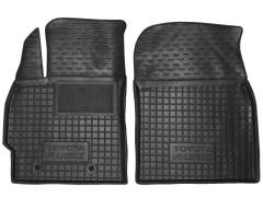 Коврики в салон передние для Toyota Auris '06-12 резиновые, черные (AVTO-Gumm)