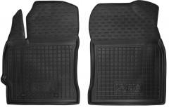 Коврики в салон передние для Toyota Auris '13- резиновые, черные (AVTO-Gumm)