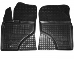 Коврики в салон передние для Toyota Avensis '08- резиновые, черные (AVTO-Gumm)
