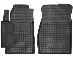 Коврики в салон передние для Toyota Camry V30 '02-06 резиновые, черные (AVTO-Gumm)