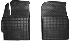 Коврики в салон передние для Toyota Corolla '13- резиновые, черные (AVTO-Gumm)