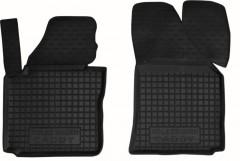 Коврики в салон передние для Volkswagen Caddy '04-15 резиновые, черные (AVTO-Gumm)