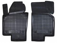 Коврики в салон передние для Volkswagen Jetta VI '10- резиновые, черные (AVTO-Gumm)